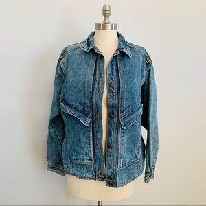 Sergio Valente Vintage Acid Washed Denim Jacket